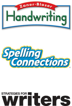 Zaner-Bloser handwriting, Spelling connections, strategies for writers logos