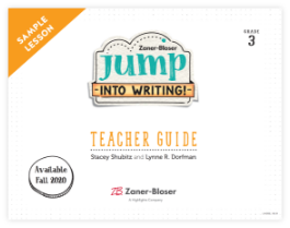 Jump into Writing! brochure cover