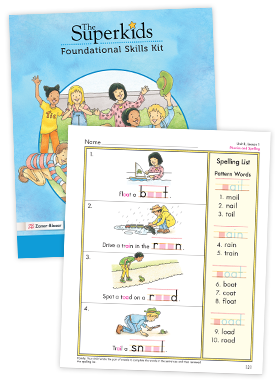 The Superkids Foundational Skill Kit Sample Pages