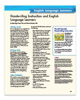 handwriting article page