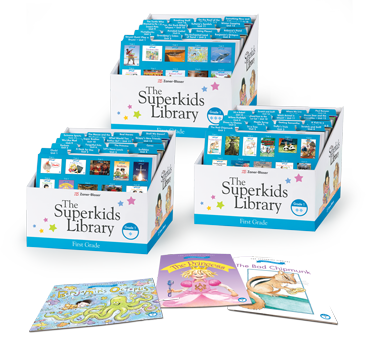 The Superkids Library boxes photo